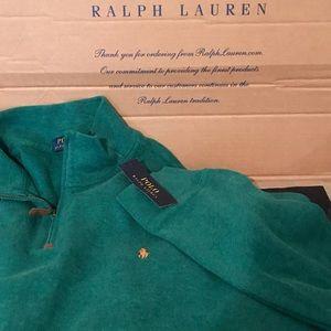 Polo Ralph Lauren Green Half Zip Sweater Fleece